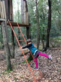 Zoe at treehouse