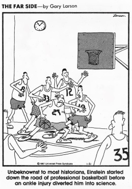 Basketball on the far side
